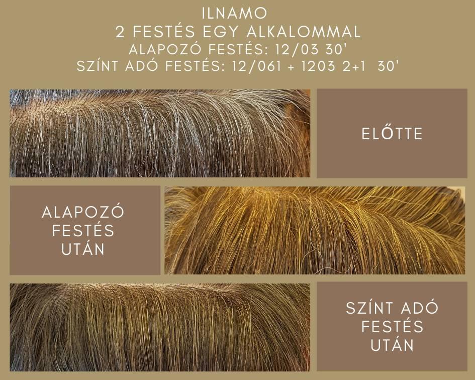 ilnamo növényi hajfesték festés két lépésben