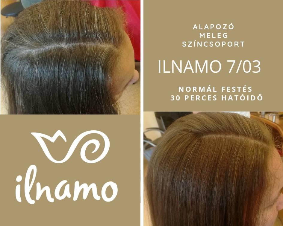 ilnamo növényi hajfesték világosbarna hajszín