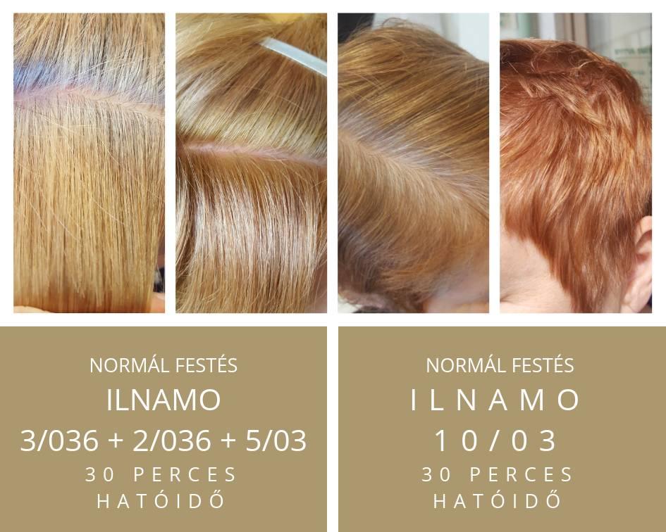 ilnamo növényi hajfesték szőke és vörös hajszín